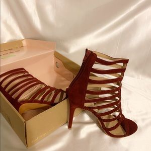 Charlotte Russe Strappy Cage Heels